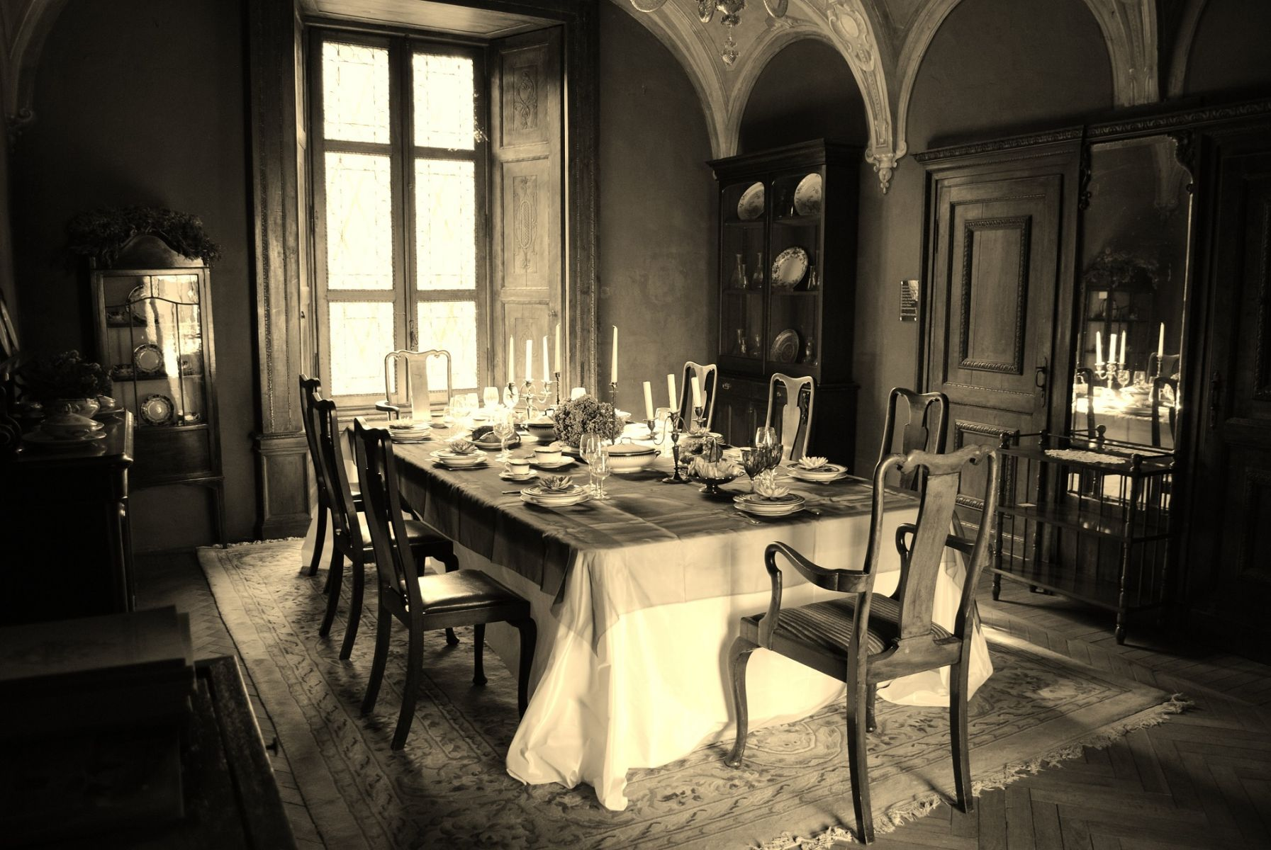 La sala da pranzo del castello di padernello for La sala da pranzo
