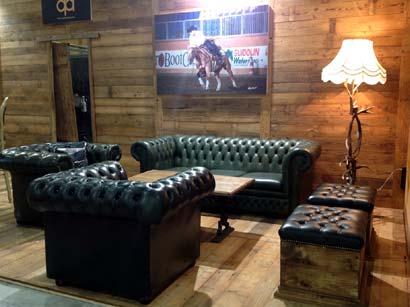Rental of sofas and armchairs for Fiera del Cavallo americano in Cremona