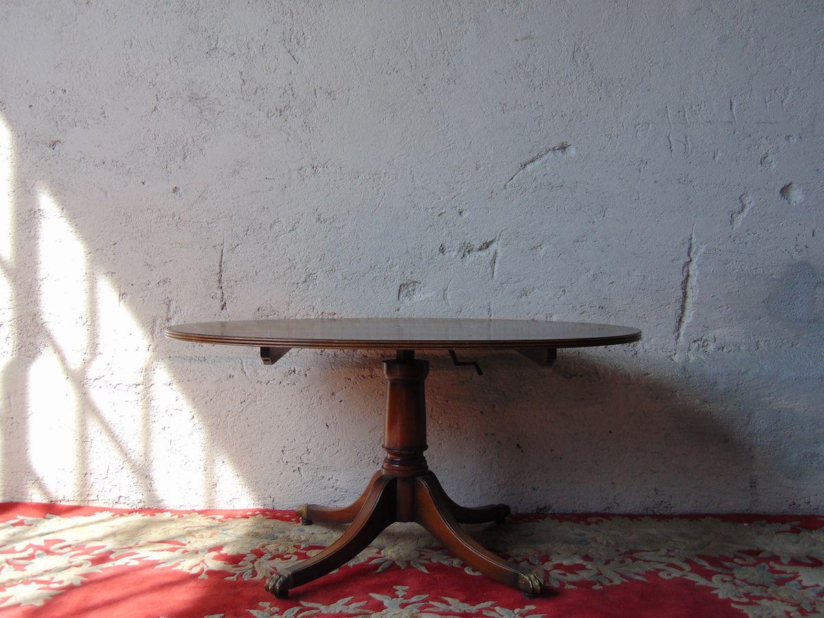 Tavolo in mogano Tavolino in mogano, vista frontale