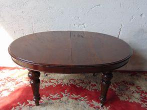 Tavolino con prolunga in mogano 1