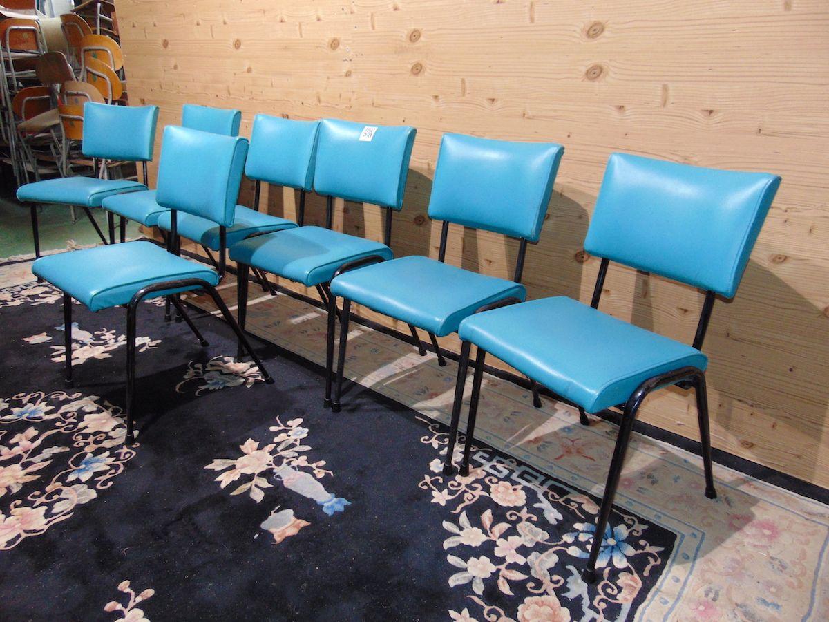 Sedie vintage azzurre 2059....jpg