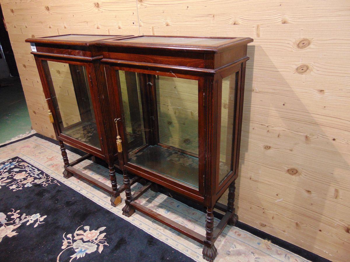 Pair of Lombard walnut display cabinets 2210....jpg