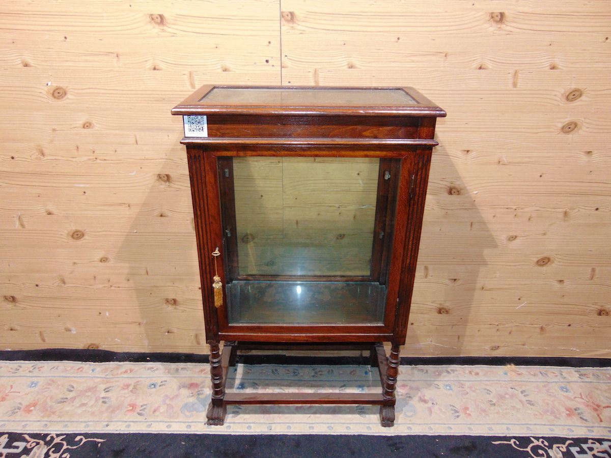 Pair of Lombard walnut display cabinets 2210.....jpg