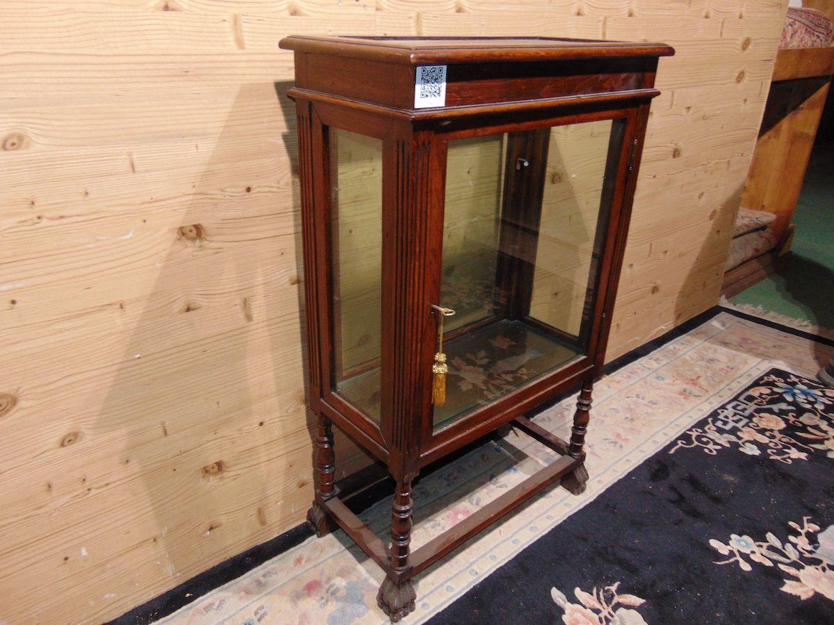 Pair of Lombard walnut display cabinets 2210.......jpg