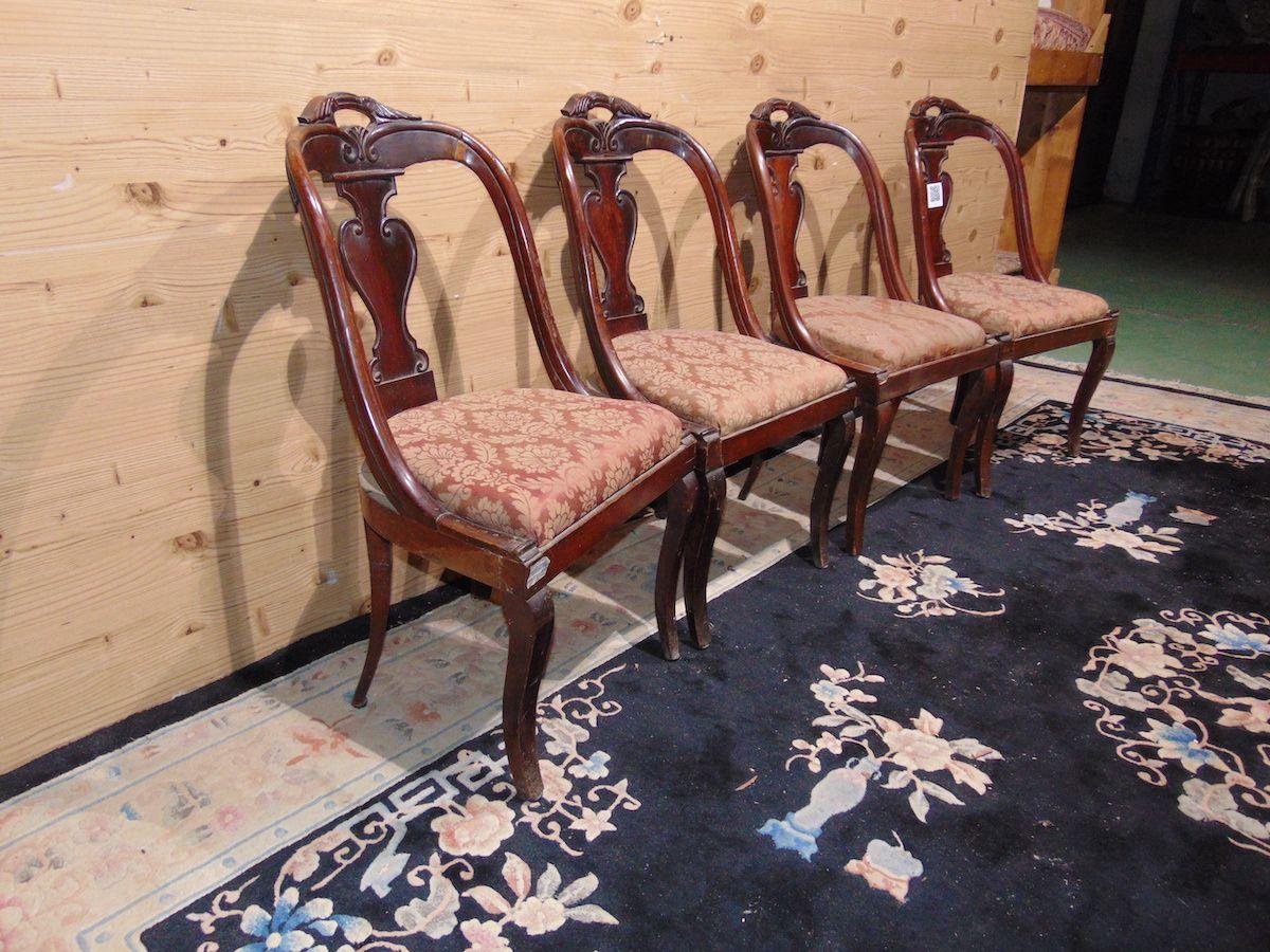 4 sedie impero in noce 2220...jpg