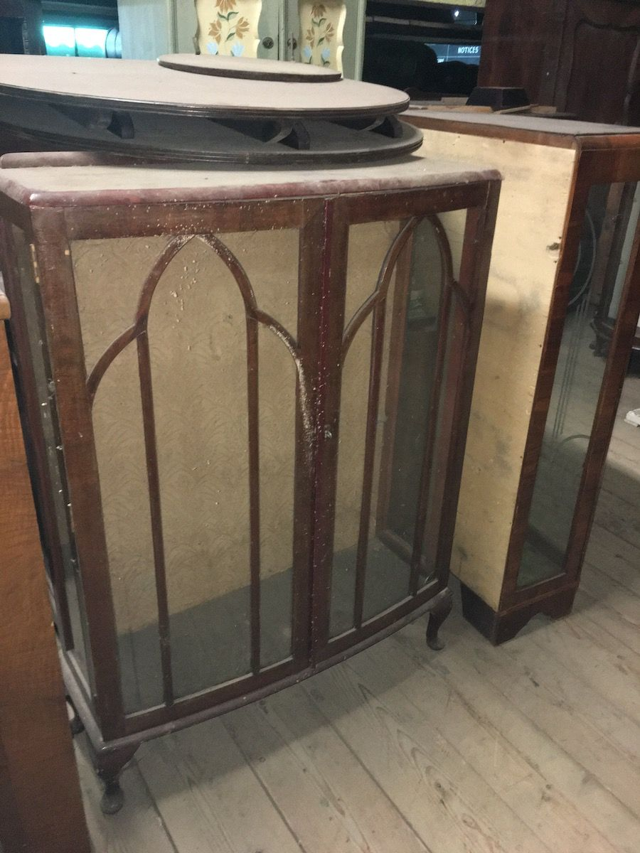 Old English mahogany veneered display cabinet 1952.jpg