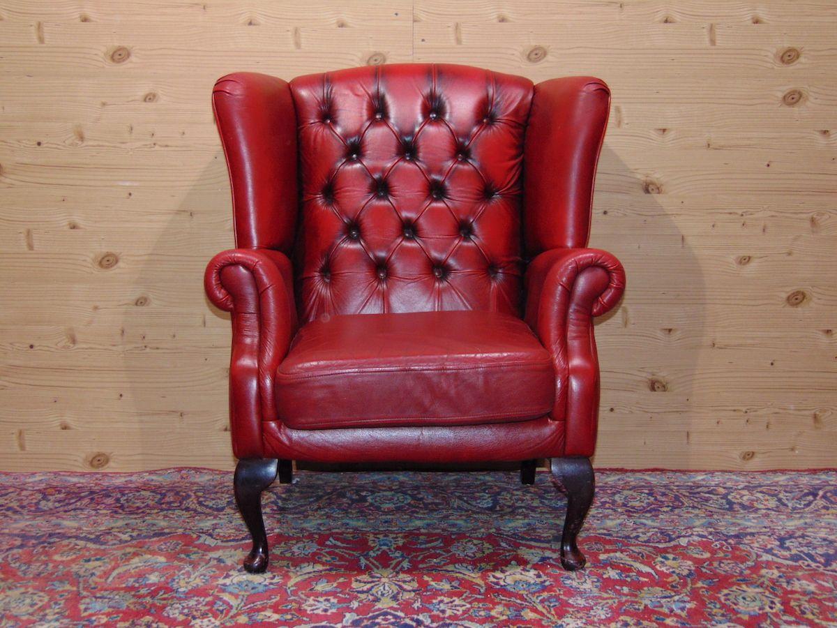 Poltrona Chesterfield Queen Anne color rosso dsc05322.jpg