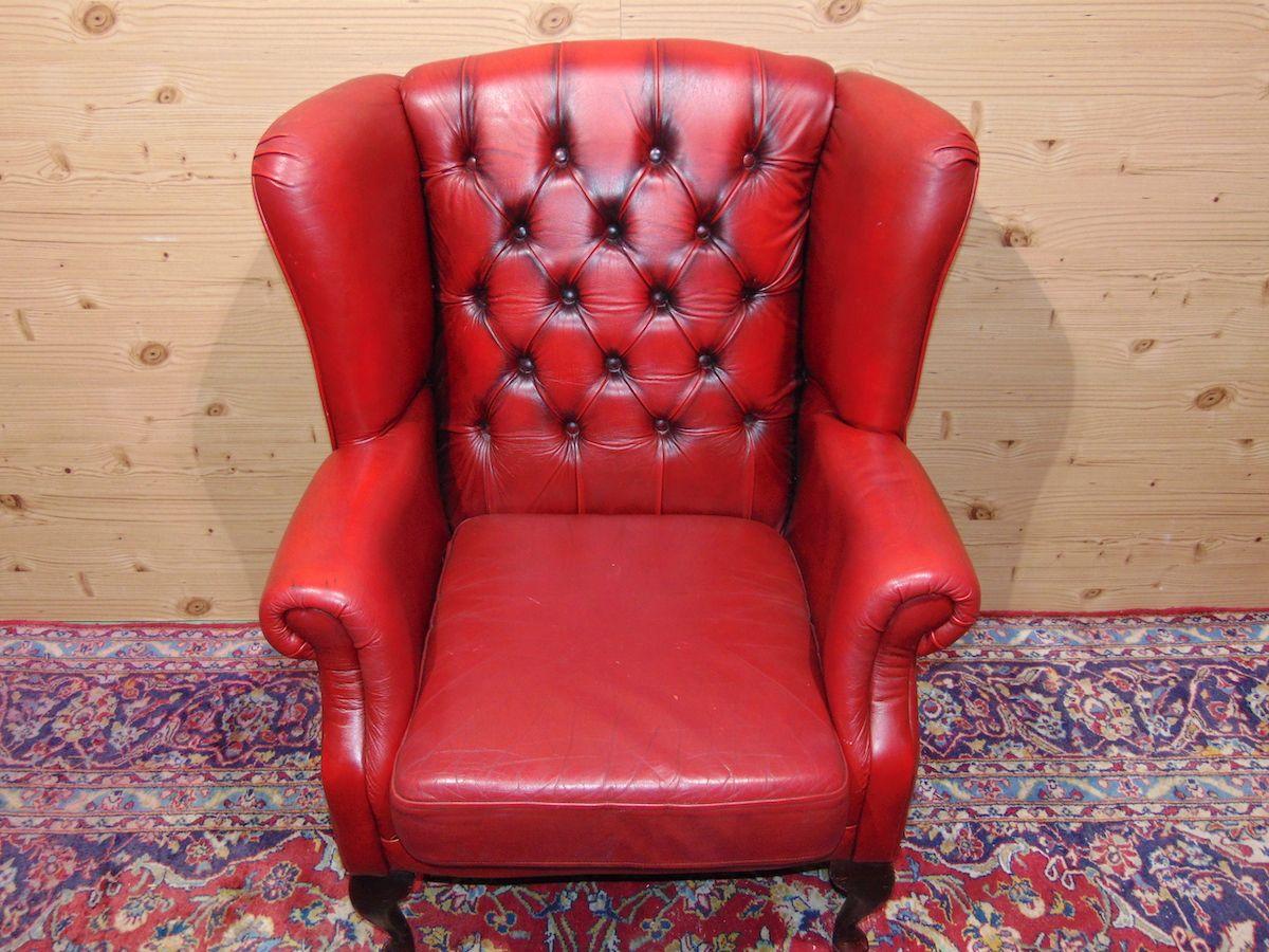 Poltrona Chesterfield Queen Anne color rosso dsc05323.jpg
