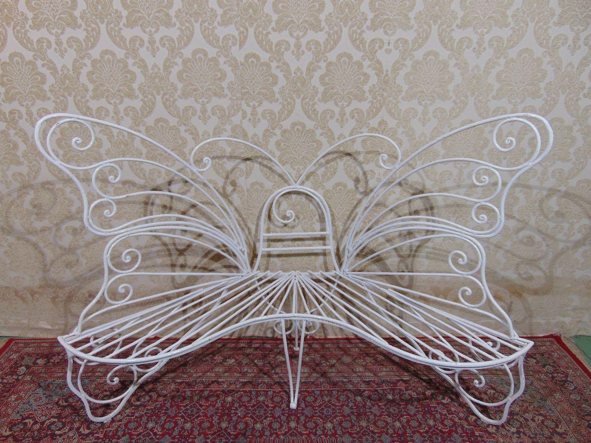 Panchina in ferro a farfalla 2065..jpg