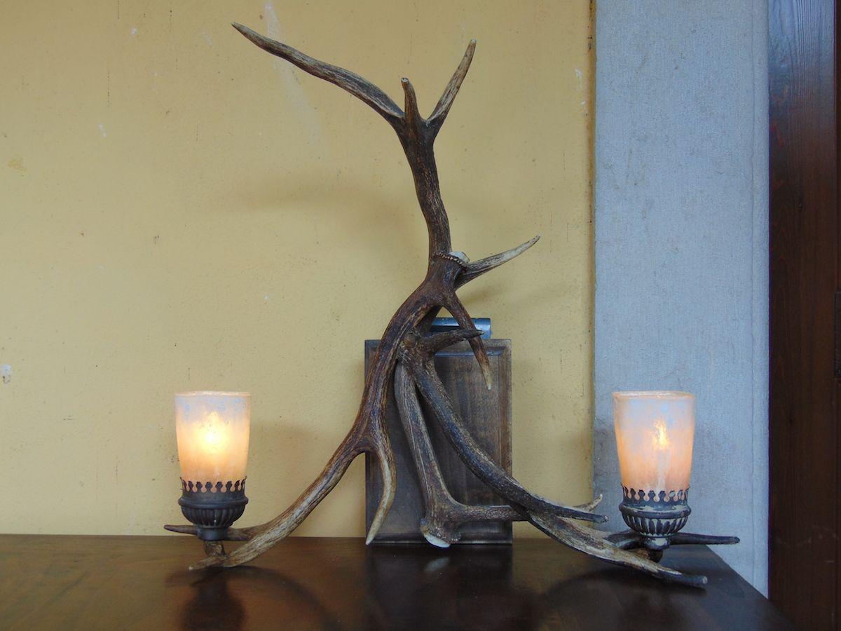 Lampada in corna di cervo dsc01012.jpg
