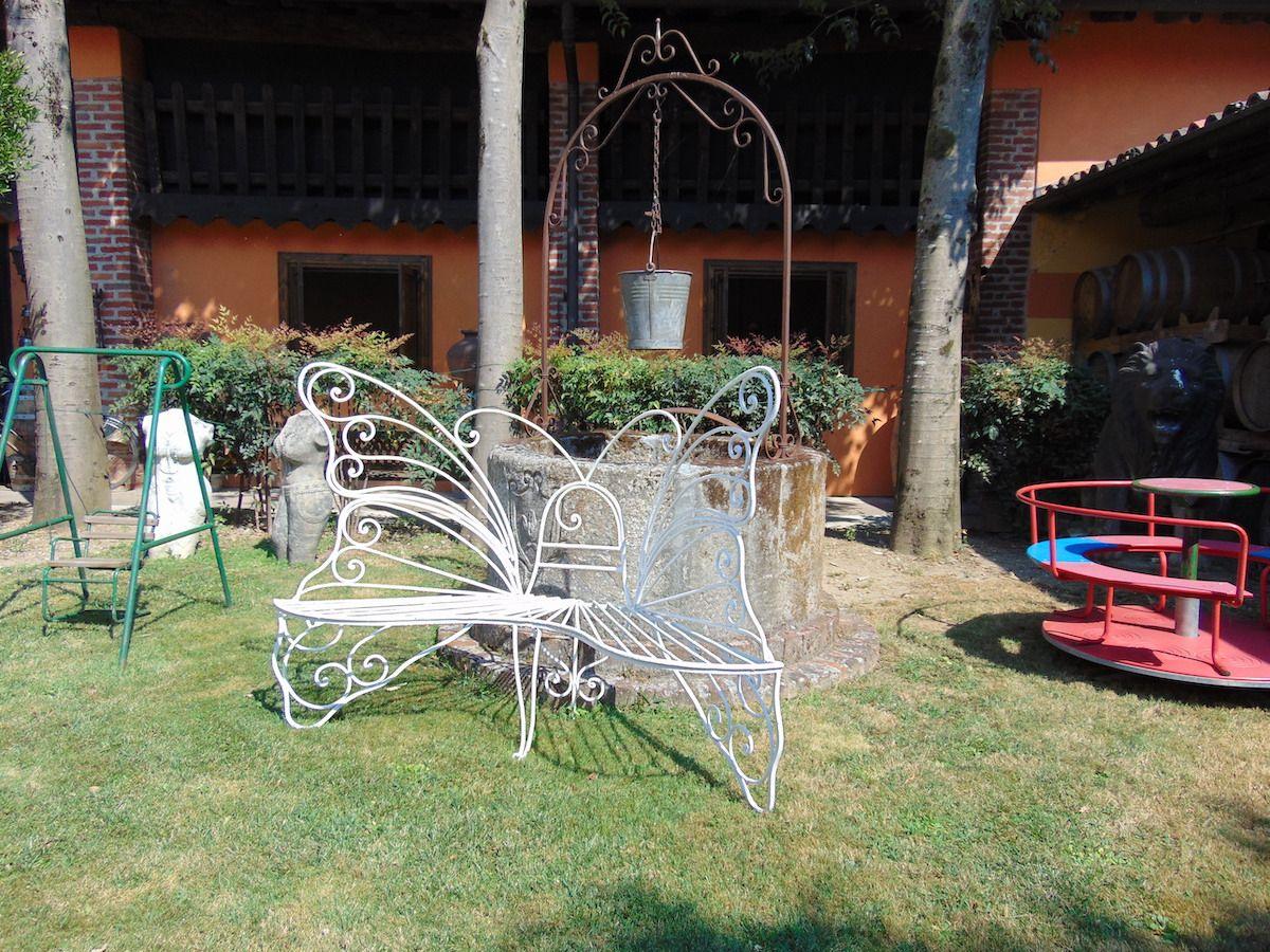 Panchina in ferro a farfalla dsc00326.jpg