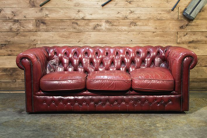 Chesterfield Divano Originale.Divano Chesterfield Originale Inglese Vintage In Vera Pelle